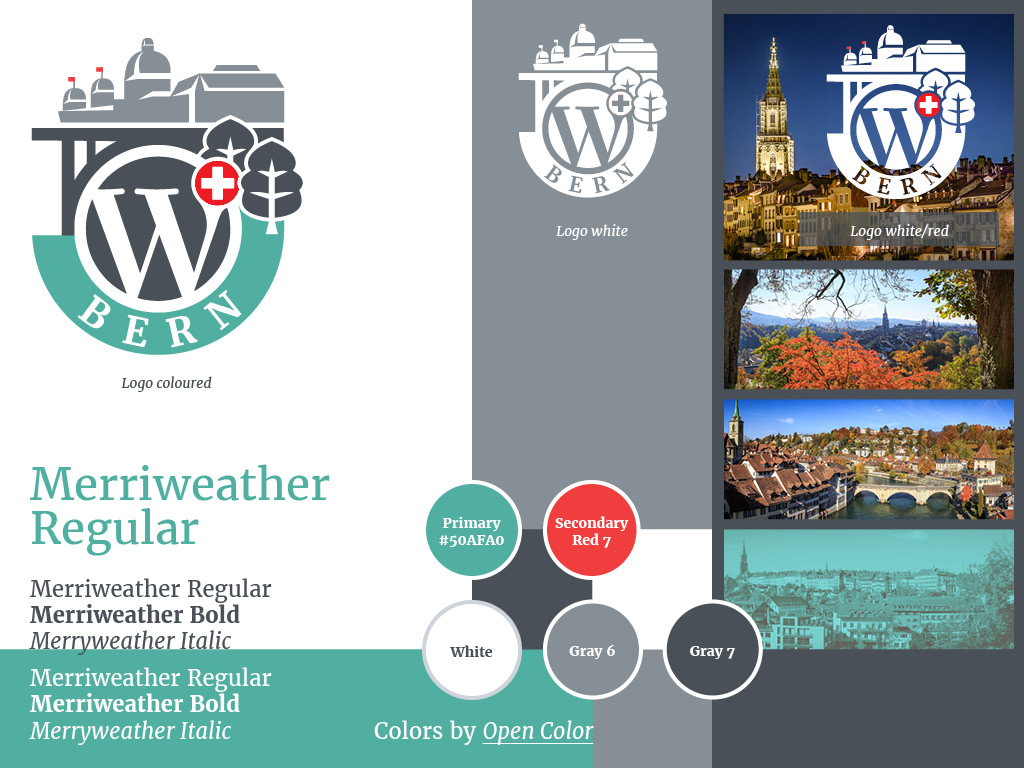 Corporate design of the WordCamp Bern